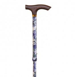 Bastón Plegable y Ajustable con Diseño Cachemira Azul