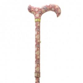 Bastón Plegable y Ajustable con Diseño de Rosas en su Tubo y Empuñadura
